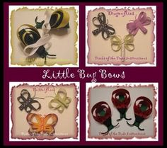 How to make cute bug and flower ribbon hair bows!