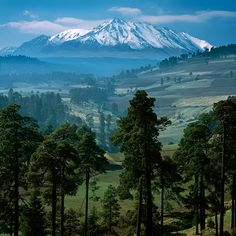 Nevado de Toluca, a large stratovolcano in central Mexico, located about 80 kilometres (50 mi) west of Mexico City near the city of Toluca. It is generally cited as the fourth highest of Mexico's peaks.