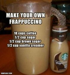 Starbucks Frappuccino-- i sooo wanna try this and see if it tastes the same