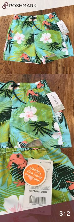 NWT 18 Month Swim Trunks NWT 18 M UPF 50+ ultra violet protection swim suit! Carter's Swim Swim Trunks