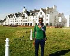 What do you wear to a golf get away? Read my post to see my Carnoustie golf get away outfit at the Carnoustie Golf Hotel in Scotland.