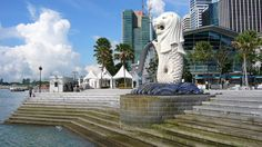 beautiful-Merlion-Park-Singapore-tourism-destination,-Singapore