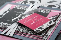 Elegant Damask Classic Wedding Invitation by JulieHananDesign, $5.00