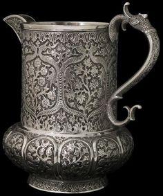 Antique Kashmiri Silverware, Indian, Kashmir