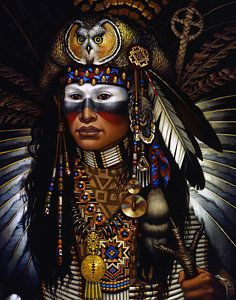Native American Indian Painting - Eagle Claw by Jane Whiting Chrzanoska