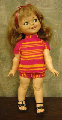 """VINTAGE GIGGLES DOLL 18"""" ~ALL ORIGINAL BY 1967 IDEAL DOLLS ~DRESSED CLOTHES"""