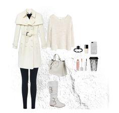 """White Winter"" by oksana-kolesnyk ❤ liked on Polyvore featuring Miss Selfridge, Prada, Burberry, MANGO, Michael Kors, MAC Cosmetics, Chanel and Dot & Bo"