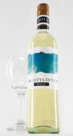 Geometric Wine Bottle Label