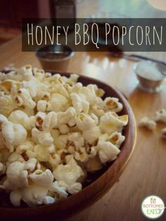 Are you craving a mix of savory and sweet? Give this gourmet Honey BBQ popcorn a try! | Fit Bottomed Eats