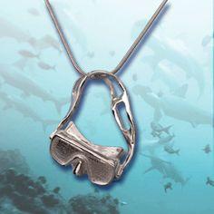 Silver Scuba Diving Mask Pendant