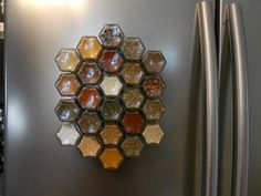 Magnetic Spice Rack, UNUSUAL gift, graduation gift,      kitchen organizer, kitchen storage, organic spices, spice jars, SHIPPING INCLUDED on Etsy, $89.00