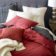 Discover the range of colorful and textural duvets from West Elm — including prints, patterns, solids and stripes!