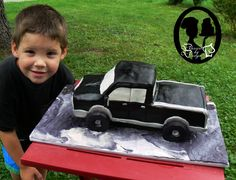 3D Pick up truck (handsome little man not included) www.dessertbydesign.ca