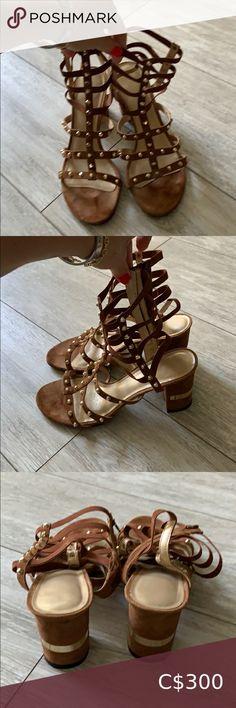 Gorgeous gladiator sandal with block heel Beautiful gladiator sandal with block heel in near new condition! Stuart Weitzman Shoes Sandals Nude Sandals, Gladiator Sandals, Shoes Sandals, Black Leather Sandals, Leather Clogs, Stuart Weitzman Sandals, Jelly Sandals, Block Heels, Closet