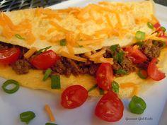 Taco OMELETTES 21 Day Fix Breakfast, Breakfast Recipes, Breakfast Tacos, Breakfast Ideas, Real Food Recipes, Cooking Recipes, Yummy Recipes, Keto Recipes, Gourmet