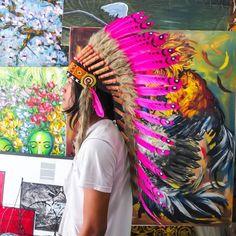 how to make indian headdress | pink indian chief headdress ~ just 'cuz it seems like a fun idea...