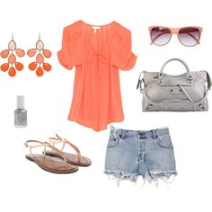 Georgia Peach, created by makeyounotice on Polyvore