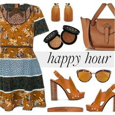 Bottoms Up: Happy Hour by rasa-j on Polyvore featuring moda, Coach, Chloé, Meli Melo, Lizzie Fortunato, Christian Dior, Gucci, Rimmel, happyhour and womensFashion