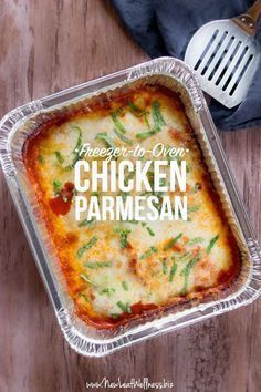 Easy Freezer-to-Oven Chicken Parmesan | New Leaf Wellness | Bloglovin'