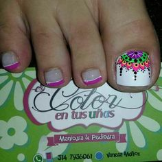 Pretty Toe Nails, Cute Toe Nails, Toe Nail Art, Love Nails, How To Do Nails, My Nails, Toe Nail Designs, Nail Polish Designs, Beautiful Nail Art