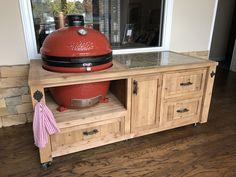 Kamado Joe Or Big Green Egg Grill Cabinet.