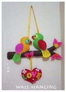 IMG 3993 214x300 Love Birds felt Wall Hangings
