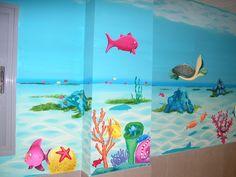 Decoración mural para un colegio en la zona de primaria.