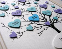 11x14 - 3D Tree of Butterflies. Personalized at Bottom. Special Occasion. Wedding. Anniversary. YOUR Colour Choices. Made to Order by aboundingtreasures