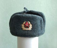 Soviet Army ushanka & Soviet Ushanka military winter hat / russian army hat Halloween ...