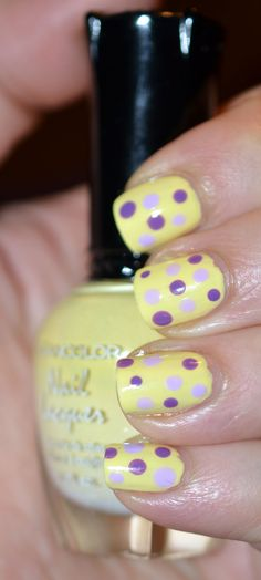 Dot Nails perfect for Easter!!!