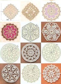Tiem, kuri tamborē no motīviem :) - Darbīgās rokas — draugiem. Granny Square Crochet Pattern, Crochet Diagram, Crochet Chart, Crochet Squares, Thread Crochet, Crochet Motif, Irish Crochet, Crochet Flowers, Crochet Stitches