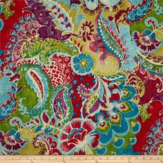 Richloom Teak Slub Bouquet Blue from @fabricdotcom  Screen printed on cotton slub duck (slub cloth has a linen appearance), this versatile medium weight fabric is perfect for window accents (draperies, valances, curtains and swags), accent pillows, bed skirts, duvet covers, slipcovers , upholstery and other home decor accents. Create handbags, tote bags, aprons and more. Colors include purple, red, ivory, celery green, purple, lime and shades of bright teal blue.