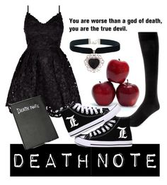 Death Note by fem-satan on Polyvore featuring polyvore, fashion, style and Wolford