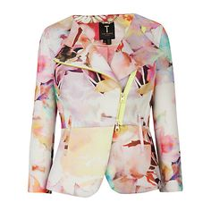Buy Ted Baker Saamsa Electric Daydream Biker Jacket, Print Online at johnlewis.com