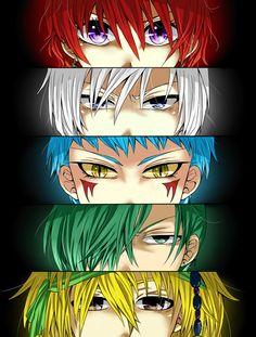 """Akatsuki no Yona -- """"The Five Dragons"""" (Yona, Kija, Shin-ah, Jae-ha, Zeno)  Shin-ah though..."""