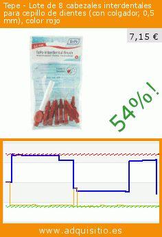 Tepe - Lote de 8 cabezales interdentales para cepillo de dientes (con colgador, 0,5 mm), color rojo (Salud y Belleza). Baja 54%! Precio actual 7,15 €, el precio anterior fue de 15,61 €. https://www.adquisitio.es/tepe/lote-8-cabezales