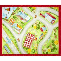 Happy Town Panel Red/Green