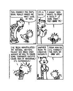 Calvin & Hobbes: I'll Connect The Dots My Own Way - R&D Weblog