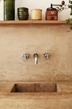 Concrete counter and sink