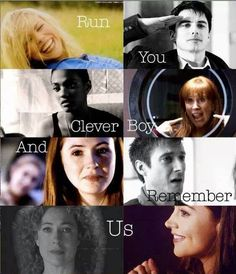 So many feels. It hurts. :( And then you realize that the last two are the two women the eleventh Doctor loved with both his hearts