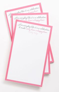 Ben's Garden 'Live Everyday' Note Pads (3-Pack) available at #Nordstrom