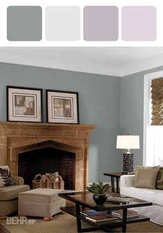 Add a sense of cozy luxury in your home with this design inspiration that features BEHR paint in Slate Blue, Maui Mist, Magical Scent, and Pink Proposal to pair with traditional furniture. Plus, with so many hues to choose from, you can also find style ideas to suit any room of your home.