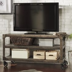Shop for TRIBECCA HOME Galena Industrial Modern Rustic Iron Console Sofa Table TV Stand. Get free shipping at Overstock.com - Your Online Furniture Outlet Store! Get 5% in rewards with Club O!