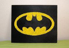 Batman Symbol Picture String Art by GeekTributeHandmade on Etsy