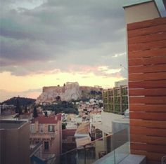 Breathtaking view of from ! Acropolis Greece, Hotel S, San Francisco Skyline, Spaces, Travel, Painting, Viajes, Painting Art, Destinations