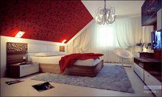 Мансарда спальня интерьер фото