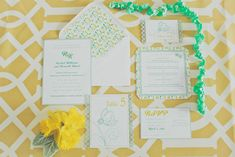 Yellow & Mint Wedding inspiration