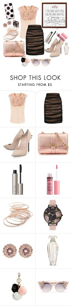 """I belong to you, you belong to me you're my sweetheart"" by grace-buerklin ❤ liked on Polyvore featuring Moschino Cheap & Chic, Casadei, Aspinal of London, Ilia, Charlotte Russe, Red Camel, Olivia Burton, Ted Baker, Victoria's Secret and GUESS"