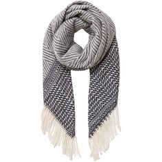 Isabel Marant Clemence Scarf ($520) ❤ liked on Polyvore featuring accessories, scarves, isabel marant, isabel marant scarves, fringed shawls, woven scarves and cashmere shawl