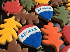 Fun Cookies, Sugar Cookies, Client Gifts, Balloons, Real Estate, Cakes, Holidays, Image, Food Cakes